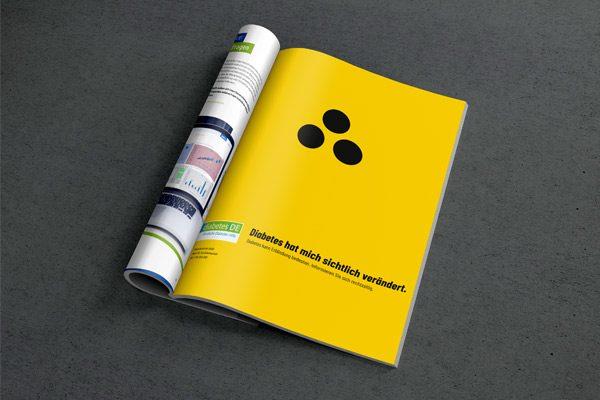 Ideen Entwicklung für fiktive Awareness Kampagne für Diabetes