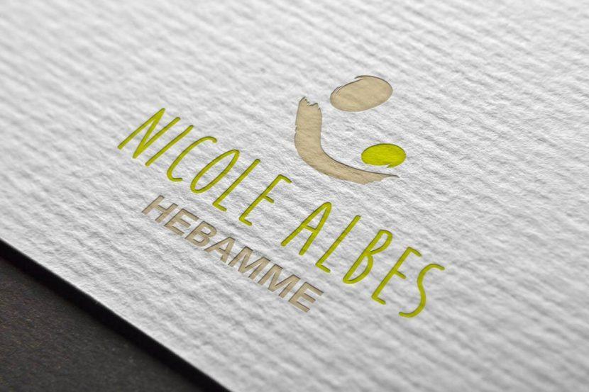 Gestaltung des Logos für Nicole Albes, Hebamme in Bodenheim
