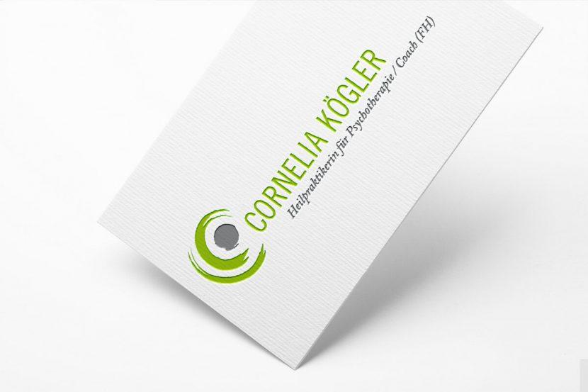 Gestaltung des Logos für Cornelia Kögler, Heilpraktikerin in Bodenheim
