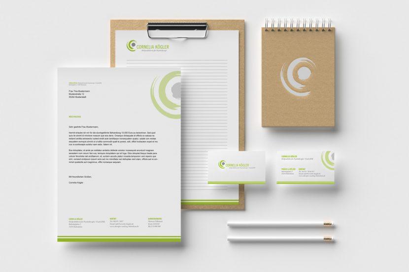 Gestaltung von Geschäftspapieren