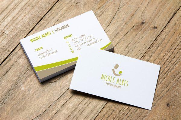 Visitenkarten Design für Nicole Albes