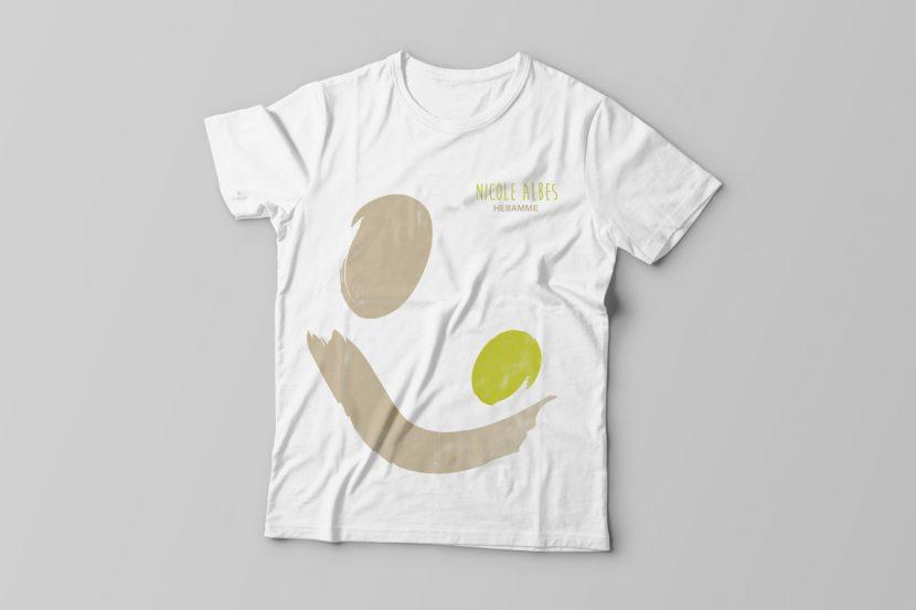 T-Shirt Design für die freie Hebamme Nicole Albes