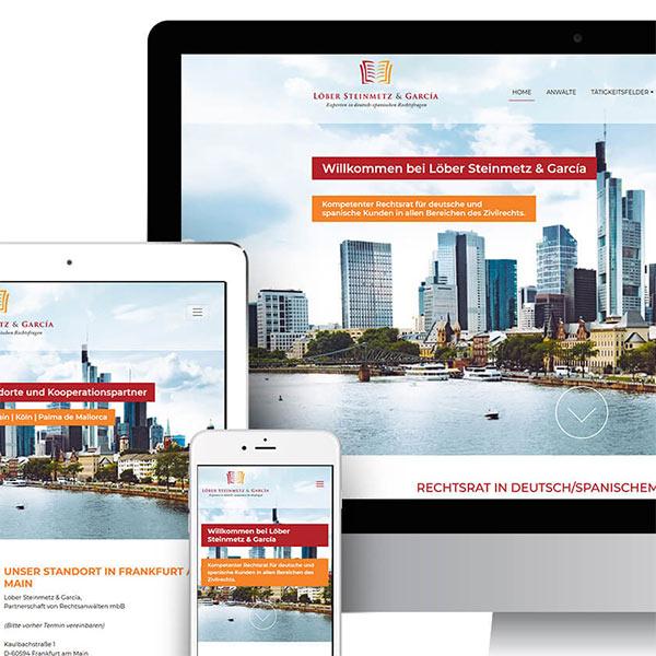 Webdesign für Anwaltskanzlei in Frankfurt